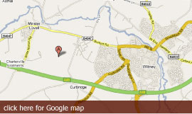 Witney Lakes Resort map